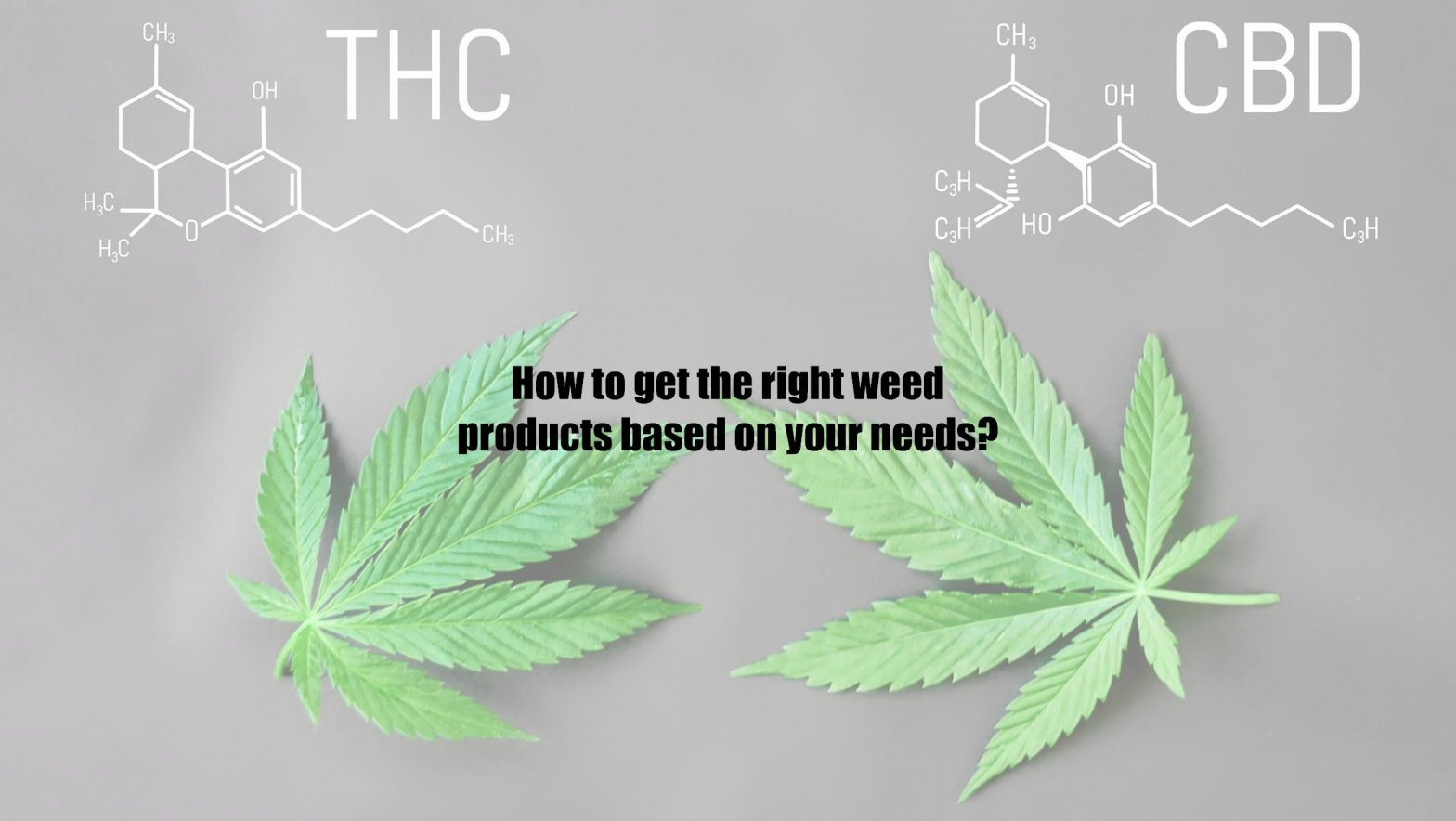 How to get the right weed products based on your needs?